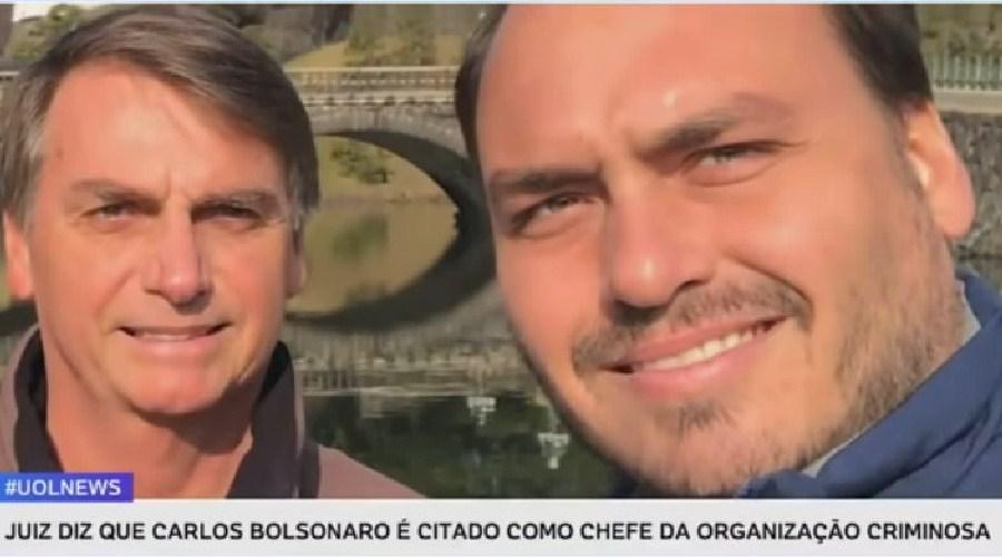 """Juiz aponta citação de Carlos Bolsonaro como """"chefe da organização criminosa"""""""